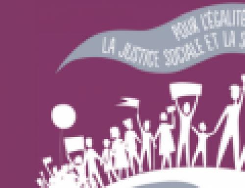 26 Mai : Pour l'égalité, la Justice sociale et la solidarité.